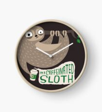 Caffeinated Sloth Clock