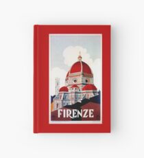 Florence Firenze 1920s Italian travel ad, duomo Hardcover Journal