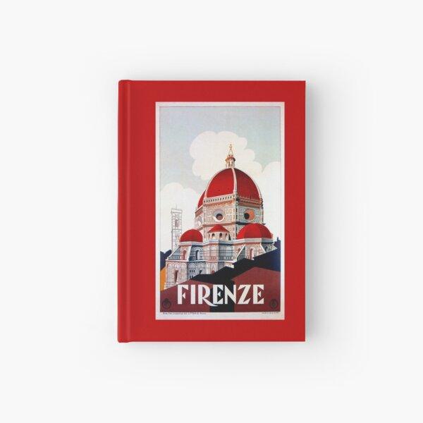 Florence Firenze 1920s Italian travel ad, duomo Hardcover Journal