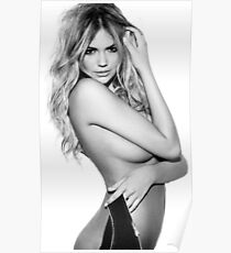 Kate Upton Black and White Poster