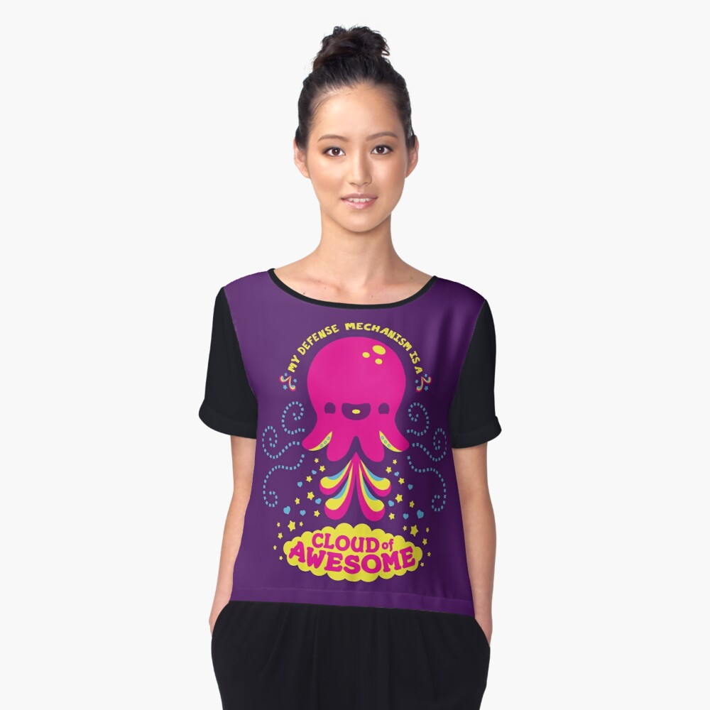 Awesomepus Women's Chiffon Top Front