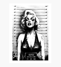 Mugshot Artwork by Marcus Jones / screaming demons Photographic Print