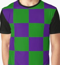 The Purple/Green Checkerboard Graphic T-Shirt