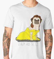 Beauty and the Pug Men's Premium T-Shirt