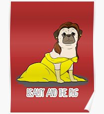 Beauty and the Pug Poster