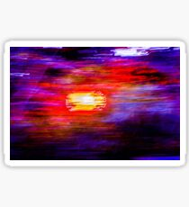 Abstract Painted Photograph Sticker