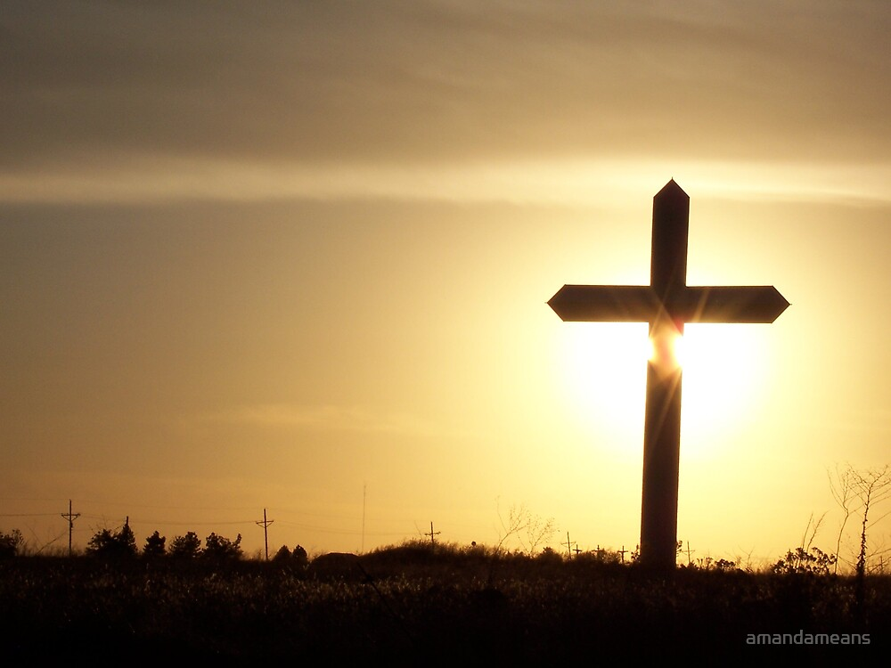 The Cross At Sunset by amandameans