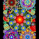 Mandalas & Exotic Fruits Pattern   by BluedarkArt
