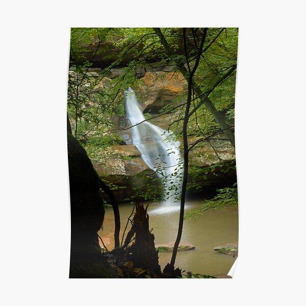 Around the corner, waterfall Poster