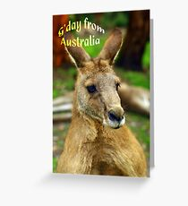 """G'day from Australia"" Greeting Card"