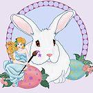 Easter Bunny's Helper by redqueenself