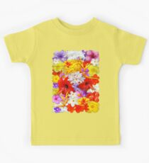 Exotic Flowers Colorful Explosion Kids Clothes