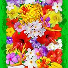 Exotic Flowers Colorful Explosion by BluedarkArt