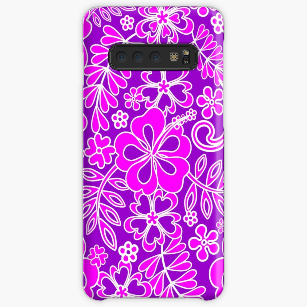 Hibiscus Pink and Purple Pattern  Case & Skin for Samsung Galaxy