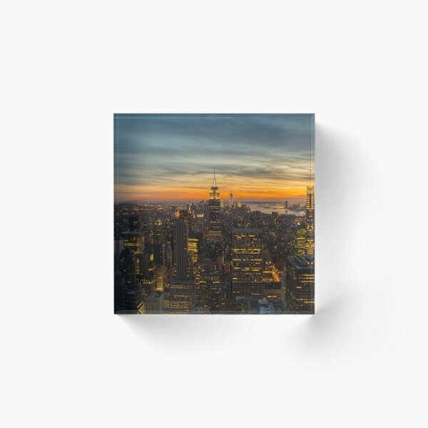 New York, New York Acrylic Block