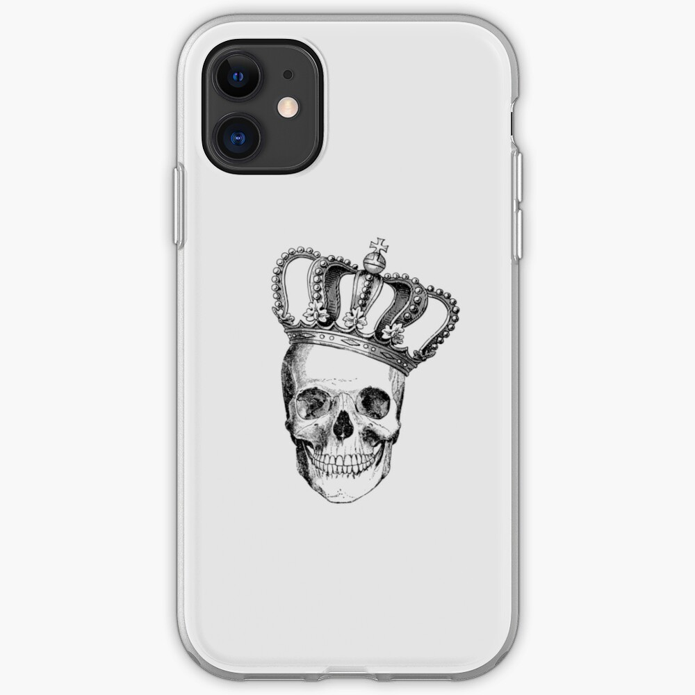 Grinding Skull With Crown iPhone Case & Cover