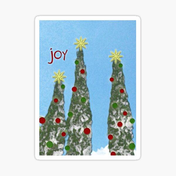 Joy, Christmas Card Sticker