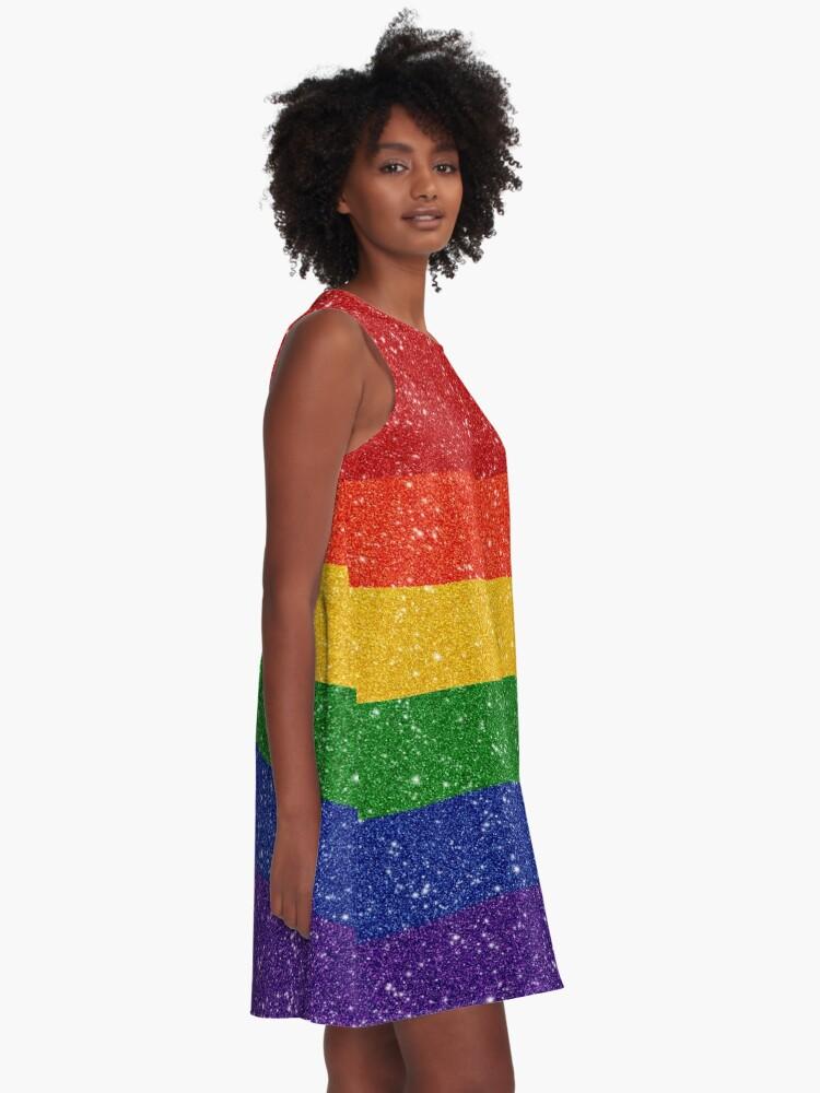 330c62b32246 Glitter Rainbow Pride Flag