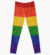 Glitter Rainbow Pride Flag Leggings