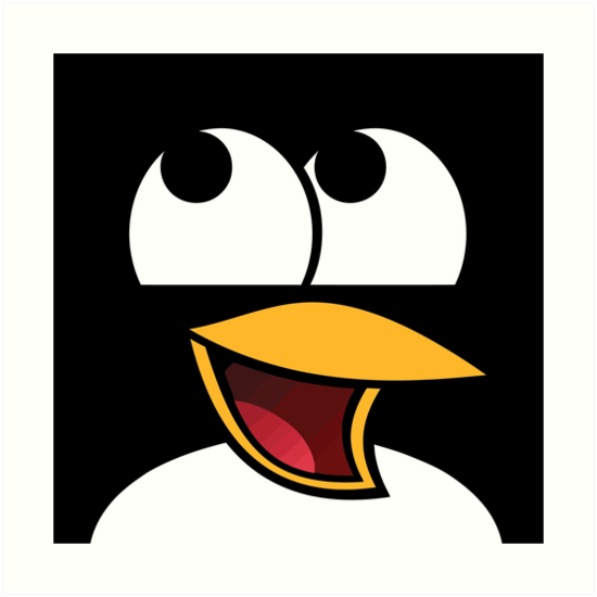 awesome linux penguin art prints by orinemaster redbubble