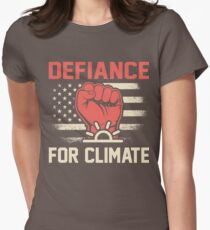 Defiance for Climate March 2017 Shirts Womens Fitted T-Shirt