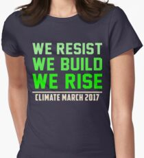 We resist We build We rise, People's Climate March Tees T-Shirt
