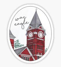 Samford Hall/War Eagle Sticker