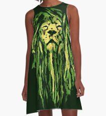 military rasta lion A-Line Dress