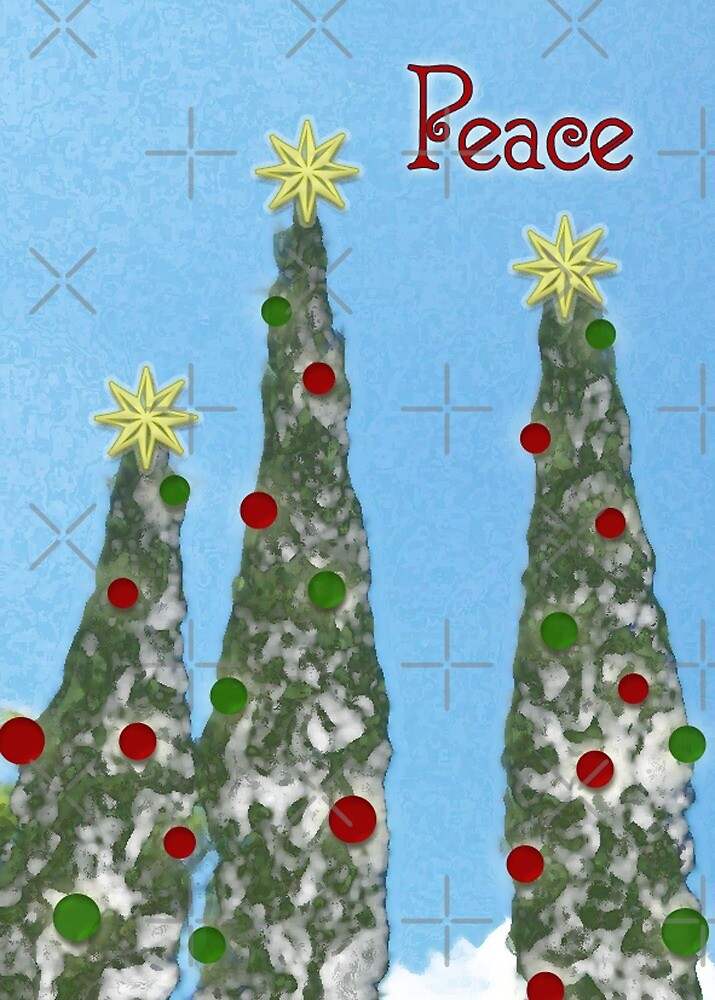 Peace, Christmas Card by Rebekah  McLeod