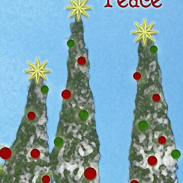 Peace, Christmas Card by RLMdesignes