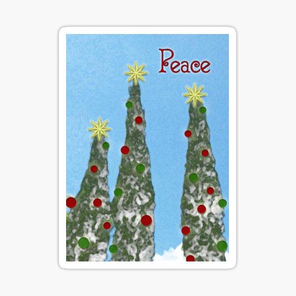 Peace, Christmas Card Sticker
