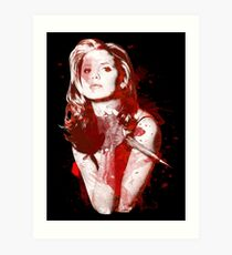 Splatter Buffy Art Print
