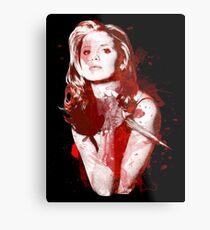 Splatter Buffy Metal Print