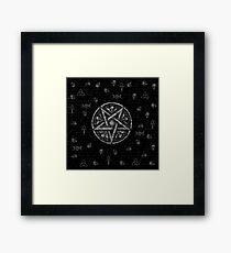 Witchcraft symbols  Framed Print