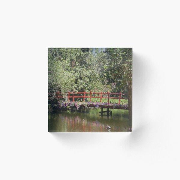 Red Bridge Acrylic Block