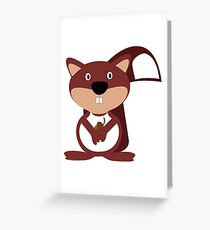 The Friendly Squirrel Greeting Card