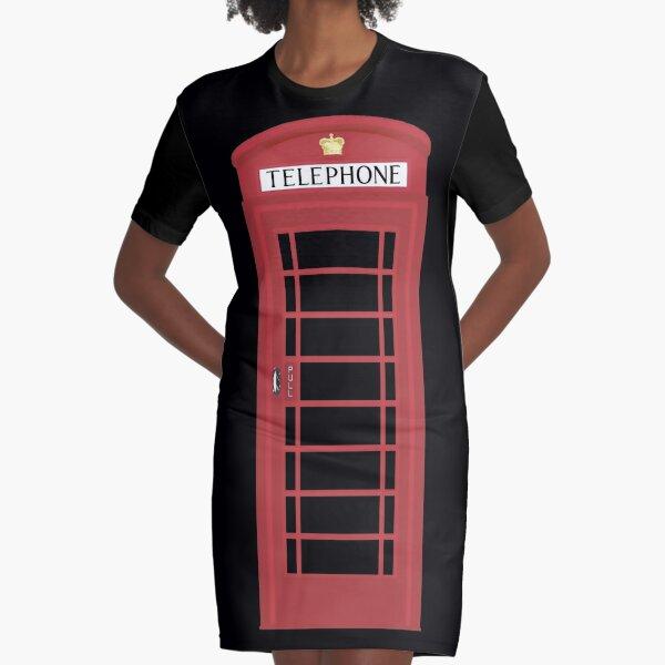 NDVH Telephone Box Graphic T-Shirt Dress