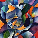 Cat Kaleidoscope Abstract by Gayela Chapman