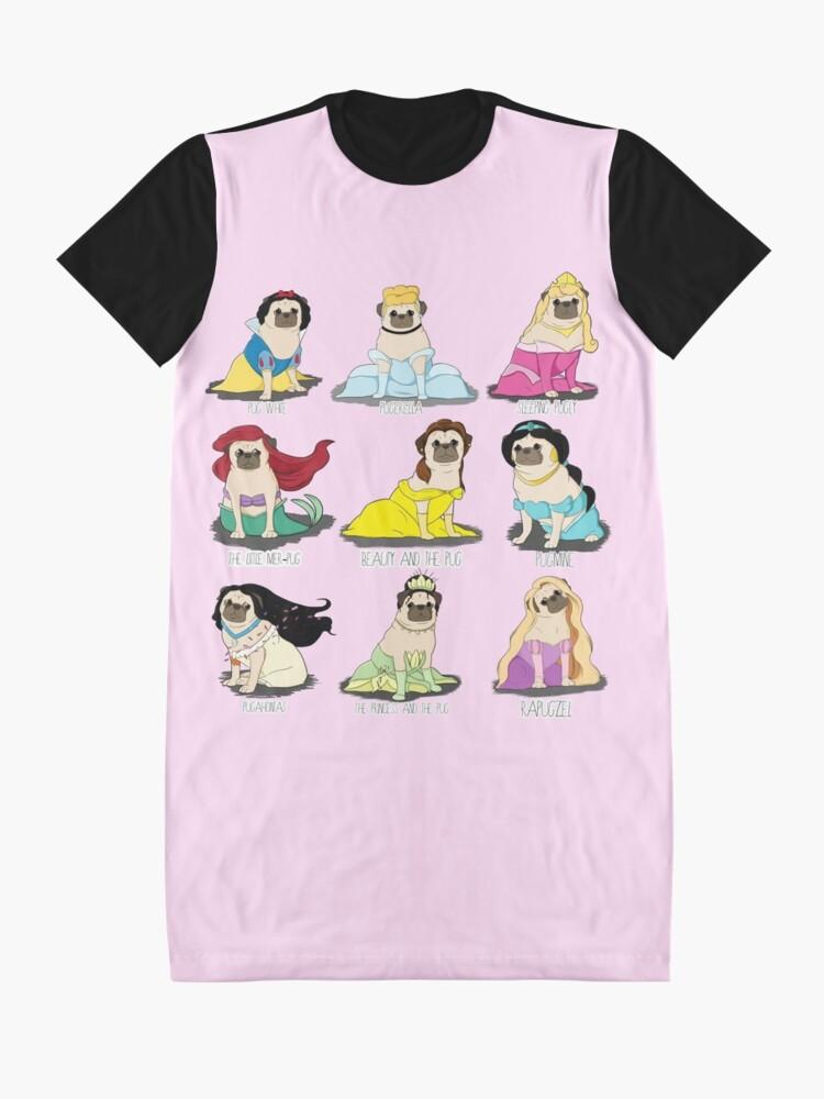 Alternate view of Pug Princesses Graphic T-Shirt Dress