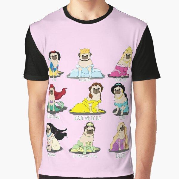 Pug Princesses Graphic T-Shirt