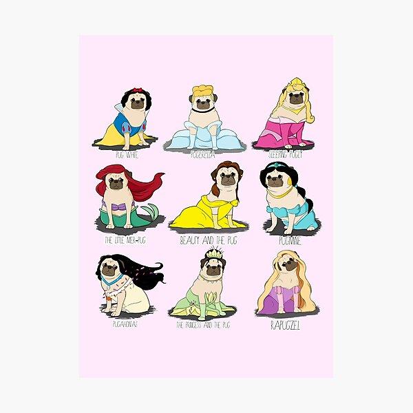 Pug Princesses Photographic Print