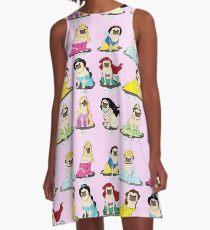 Pug Princesses A-Line Dress
