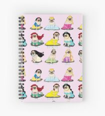 Pug Princesses Spiral Notebook