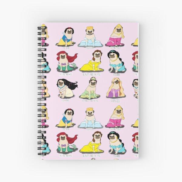 Pug Princesses Spiral Notebook