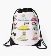 Pug Princesses Drawstring Bag