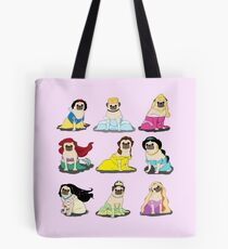 Pug Princesses Version 2 Tote Bag