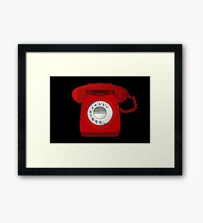 NDVH Telephone Framed Print