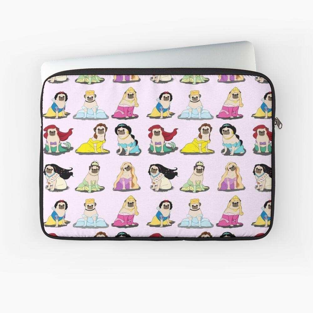 Pug Princesses Version 2 Laptop Sleeve Front