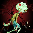 Zombie Creepy Monster Cartoon  by BluedarkArt