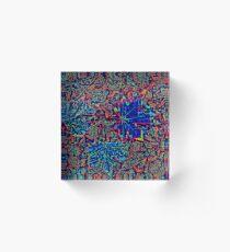 Leaf pattern. Acrylic Block